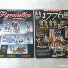Juguetes antiguos: CATALOGOS KING & COUNTRY REVOLUTION Y 1776. Lote 137762926