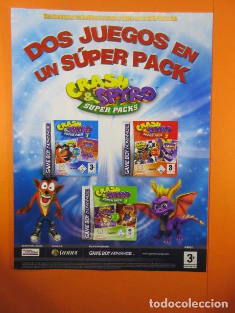 PUBLICIDAD 2005 - CRASH & SPYRO GAME BOY ADVANCE NINTENDO - VIDEOJUEGOS (Juguetes - Catálogos y Revistas de Juguetes)