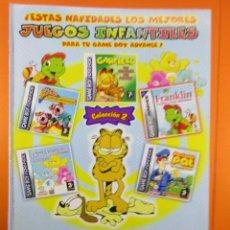 Juguetes antiguos: PUBLICIDAD 2005 - GARFIELD GAME BOY ADVANCE NINTENDO - VIDEOJUEGOS. Lote 139411022