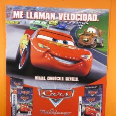 Juguetes antiguos: PUBLICIDAD 2006 - DYSNEY PIXAR CARS PLAYSTATION 2 XBOX NINTENDO DS GAME BOY ADVANCE . Lote 139412518