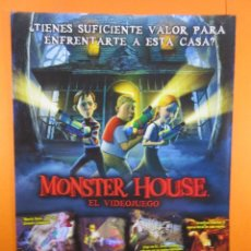 Juguetes antiguos: PUBLICIDAD 2006 - MONSTER HOUSE - PLAYSTATION 2 NINTENDO DS GAME BOY ADVANCE. Lote 139412838