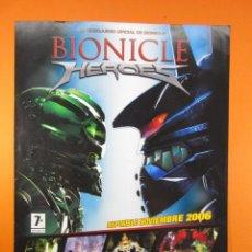 Juguetes antiguos: PUBLICIDAD 2006 - BIONICLE HEROES PLAYSTATION 2 NINTENDO DS GAME BOY ADVANCE XBOX 360 EIDOS. Lote 139413778