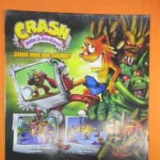Juguetes antiguos: PUBLICIDAD 2008 - CRASH - PLAYSTATION 2 NINTENDO DS XBOX 360 GAME BOY ADVANCE WII. Lote 139517830