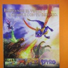 Juguetes antiguos: PUBLICIDAD 2008 - LA LEYENDA DE SPYRO LA FUERZA DEL DRAGON - PLAYSTATION 3 NINTENDO DS XBOX 360 GAM. Lote 139518254