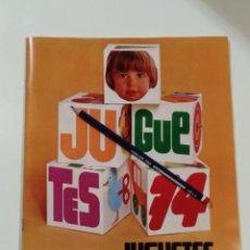 Juguetes antiguos: EXCELENTE CATÁLOGO JUGUETES EL CORTE INGLÉS 1974. Lote 139600005