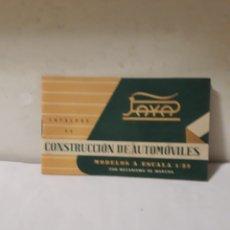 Juguetes antiguos: PAYA CATALOGO COCHES CONSTRUCCION. Lote 139744610