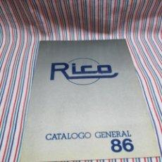 Juguetes antiguos: RICO DIFICIL CATALOGO TIENDA 1986. Lote 139754378