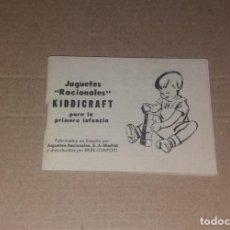 Juguetes antiguos: CATÁLOGO JUGUETE KIDDICRAFT JUGUETES RACIONALES. 1973, FOTOS COLOR SEPIA, MUY BUEN ESTADO. Lote 140033806