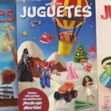 Juguetes antiguos: LOTE CATÁLOGO DE JUGUETES DE EL CORTE INGLÉS NAVIDAD 2012-2013 2014-2015 2016-2017.. Lote 140514056