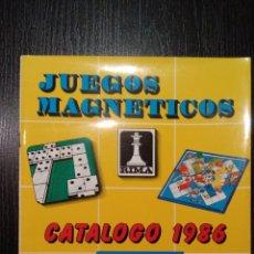 Juguetes antiguos: CATALOGO 1986 INOVAC-RIMA JUEGOS MAGNETICOS. Lote 141866132