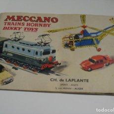 Giocattoli antichi: MECCANO TRAINS HORNBY DYNKY TOYS - ANTIGUO CATALOGO DE JUGUETES EN FRANCES AÑO 1957. Lote 143257190