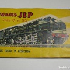 Brinquedos antigos: TRAINS JEP - ESCALA O Y HO - ANTIGUO CATALOGO DE JUGUETES EN FRANCES AÑO 1959.. Lote 143257486