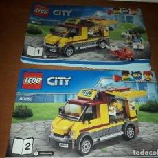 Juguetes antiguos: 2 LIBRILLOS NSTRUCCIONES DE MONTAJE LEGO CITY 60150.. Lote 143329794