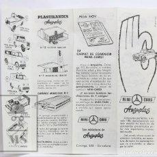 Juguetes antiguos: FOLLETO / CATÁLOGO COCHES MINI CARS DE ANGUPLAS - ESCALA 1/86 - AÑOS 50. Lote 143985298