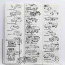 Juguetes antiguos: FOLLETO / CATÁLOGO COCHES MINI CARS DE ANGUPLAS - ESCALA 1/86 - AÑOS 50. Lote 143986090