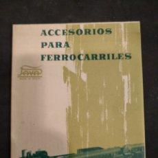 Juguetes antiguos: CATALOGO ACCESORIOS PARA FERROCARRILES PAYA, 1963. Lote 144251477