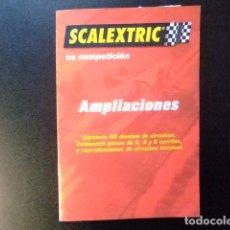 Juguetes antiguos: SCALEXTRIC CATALOGO DE AMPLIFICACIONES DE 40 CIRCUITOS FAMOSOS TECNITOYS. Lote 144520422