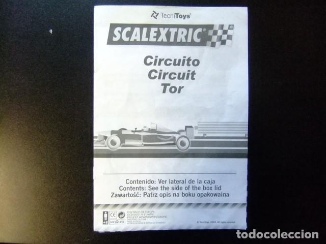 SCALEXTRIC CATALOGO CIRCUITO TOR TECNITOYS 2003 (Juguetes - Catálogos y Revistas de Juguetes)