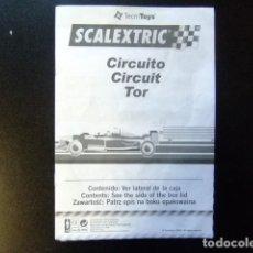 Juguetes antiguos: SCALEXTRIC CATALOGO CIRCUITO TOR TECNITOYS 2003. Lote 144520518