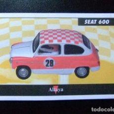 Juguetes antiguos: SCALEXTRIC FICHA SEAT 600 ALTAYA. Lote 144615442