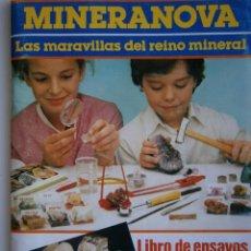 Juguetes antiguos: LIBRO DE ENSAYOS E INSTRUCCIONES MINERANOVA LAS MARAVILLAS DEL REINO MINERAL JUGUETES MEDITERRANEO. Lote 144645714