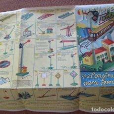 Juguetes antiguos: CATALOGO DESPLEGABLE Nº 2. CONSTRUCCIONES PARA FERROCARRILES. PAYA.. Lote 145338542