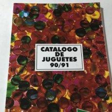 Juguetes antiguos: CATALOGO DE 1990-1991 DE JUGUETES DE EL CORTE INGLES - CABALLEROS DEL ZODIACO CINEXIN PLAYMOBIL . Lote 145616314