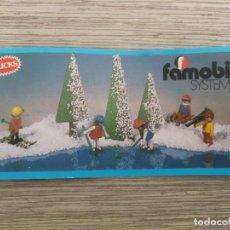 Juguetes antiguos: ANTIGUO CATALOGO DE LOS CLICKS DE FAMOBIL - 1979 - EN PERFECTO ESTADO - SIN ABRIR MIDE 13 X 6 CM - . Lote 145949106