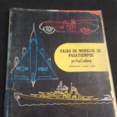 Juguetes antiguos: CATALOGO DE MAQUETAS PAUL LINDBERG COCHES BARCOS AVIONES AÑOS 60. Lote 146495502