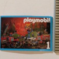 Juguetes antiguos: CATÁLOGO PLAYMOBIL 1986 DESPLEGABLE. Lote 146948357
