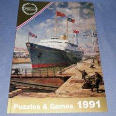 Juguetes antiguos: CATALOGO FALCON AÑO 1991 PUZZLES & GAMES EN MUY BUEN ESTADO VER FOTO Y DESCRIPCION. Lote 147062430