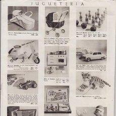 Juguetes antiguos: CATALOGO EL CORTE INGLES 1956, SCHUCCO, TAF, SEAT, ROPA, COMPLEMENTOS. Lote 147696634