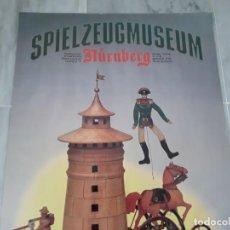 Juguetes antiguos: CARTEL PÓSTER MUSEO DEL JUGUETE. NÜREMBERG. Lote 148638650