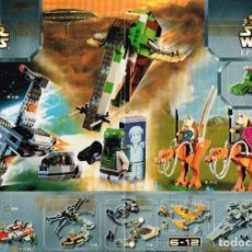 Juguetes antiguos: MINI CATÁLOGO LEGO - STAR WARS. Lote 148850162