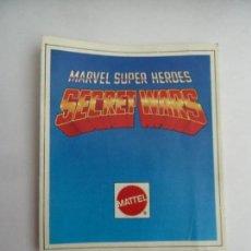 Brinquedos antigos: CATALOGO ORIGINAL MATTEL SECRET WARS MARVEL SUPER HEROES PERFECTO ESTADO. Lote 149579582