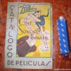Juguetes antiguos: BONITO CATALOGO PUBLICIDAD DE PELICULAS CINE SONORO INFANTIL PAYA RAI + PELICULA PARTIDO AMISTOSO. Lote 149823958