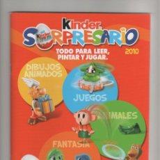 Juguetes antiguos: KINDER SORPRESARIO 2010 - TODO PARA LEER PINTAR Y JUGAR - SIN USO -. Lote 150680658