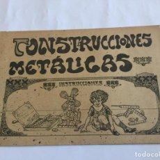 Juguetes antiguos: CATALOGO JUGUETES CONSTRUCCIONES METALICAS TIPO MECCANO. Lote 150998810