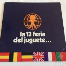 Juguetes antiguos: CATALOGO JUGUETES FERIA DEL JUGUETE DE VALENCIA 1974 SCALEXTRIC SANCHIS. Lote 150999650