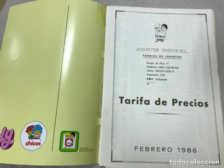 Juguetes antiguos: CATALOGO JUGUETES CHICOS 1986 - IBI - ALICANTE, VER DESCRIPCION Y FOTOS, TARIFA PRECIOS - Foto 2 - 151709550