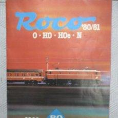 Juguetes antiguos: CATALOGO TRENES Y COMPLEMENTOS ROCO - 1960 / 1980 - IDIOMA INGLES - ED.1981 - ESC. 0 - H0 - H0E - N. Lote 151712842