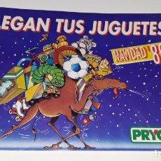 Juguetes antiguos: ANTIGUO CATALOGO DE JUGUETES PRYCA AÑO 1989 - NANCY - MOTU - TENTE - GIJOE - PLAYMOBIL NAVIDAD 89. Lote 152385122