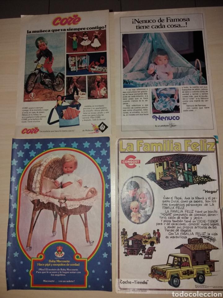 RECORTES DE JUGUETES VARIOS: CORE, NENUCO, BABY MOCOSETE, LA FAMILIA FELÍZ (Juguetes - Catálogos y Revistas de Juguetes)