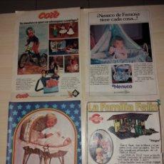 Juguetes antiguos: RECORTES DE JUGUETES VARIOS: CORE, NENUCO, BABY MOCOSETE, LA FAMILIA FELÍZ. Lote 152459945