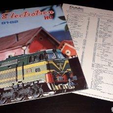 Juguetes antiguos: CATÁLOGO TRENES Y ACCESORIOS + HOJA LISTA PRECIOS, ELECTROTREN H0, SPAIN, 81-82, ORIGINAL 1981.. Lote 154052858