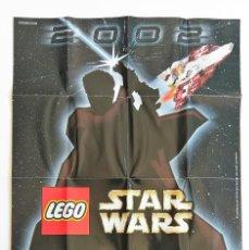 Juguetes antiguos: CATÁLOGO FOLLETO LEGO 2002 DINAMARCA. STAR WARS LEGOLAND RACERS FÚTBOL. Lote 154400870