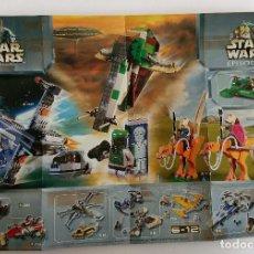 Juguetes antiguos: CATÁLOGO FOLLETO LEGO 2002 DINAMARCA. STAR WARS RACERS. Lote 154400966