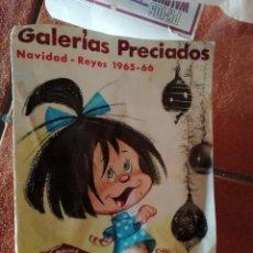 Juguetes antiguos: CATALOGO JUGUETES GALERIAS PRECIADOS NAVIDAD REYES 1965 66 ,ESPECIAL RICO PAYA AIRGAM SCALEXTRIC. Lote 154408866