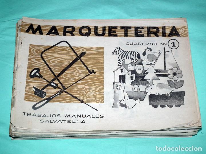 LOTE DE 41 CUADERNILLOS DE MARQUETERIA SALVATELLA (Juguetes - Catálogos y Revistas de Juguetes)
