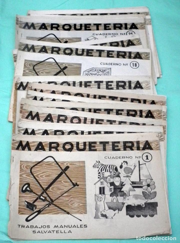 Juguetes antiguos: LOTE DE 41 CUADERNILLOS DE MARQUETERIA SALVATELLA - Foto 2 - 155440854